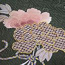 牡丹と菊の丸帯 牡丹柄質感・風合