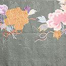 牡丹と菊の丸帯 牡丹柄前中心