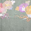 牡丹と菊の丸帯 菊柄前中心
