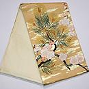 梅に松の袋帯 帯裏