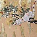 梅に松の袋帯 前中心