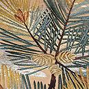 梅に松の袋帯 質感・風合