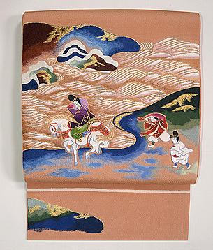 須磨の浦刺繍名古屋帯