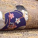 靭猿(うつぼさる)に桜刺繍開き名古屋帯 質感・風合