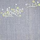 シロツメ草と小リス刺繍開き名古屋帯 前中心