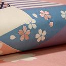 色紙に桜の染め名古屋帯 質感・風合