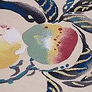 桃柄の綴れ名古屋帯 質感・風合