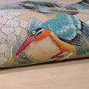 紫陽花にカワセミの刺繍名古屋帯 質感・風合