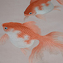 金魚の刺繍綴れ名古屋帯 質感・風合