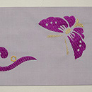 花唐草に蝶の名古屋帯 前中心