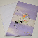 野菊にトンボ刺繍名古屋帯 帯裏