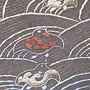 青海波に群れ千鳥刺繍名古屋帯 質感・風合