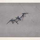 コウモリの刺繍名古屋帯 前中心