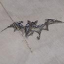 コウモリの刺繍名古屋帯 質感・風合