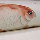 金魚の染め名古屋帯 質感・風合