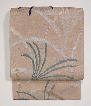 ススキの図唐織袋帯