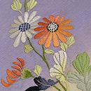 紫暈しに文字入り野菊の袋帯 質感・風合