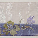 波紋に桔梗の刺繍名古屋帯 前中心