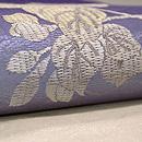 波紋に桔梗の刺繍名古屋帯 質感・風合