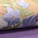 秋草に蝶の図刺繍名古屋帯 質感・風合
