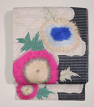 柘榴の刺繍名古屋帯