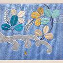 波頭に花丸紋刺繍名古屋帯 前中心