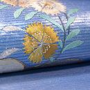 波頭に花丸紋刺繍名古屋帯 質感・風合