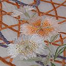 白地花籠の刺繍名古屋帯 質感・風合