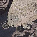 波間に鯛の名古屋帯 質感・風合