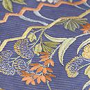 扇面に野の花刺繍名古屋帯 質感・風合