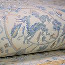 川島織物 鹿に花鳥文様袋帯 質感・風合
