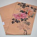 杏色牡丹の染め名古屋帯 帯裏