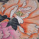 杏色牡丹の染め名古屋帯 質感・風合