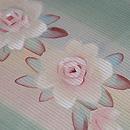 バラとチューリップの染め刺繍帯 質感・風合