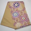 青山みとも製 花鳥に華紋貝紫の袋帯 帯裏
