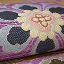 青山みとも製 花鳥に華紋貝紫の袋帯 質感・風合