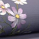 コスモスにトンボの刺繍名古屋帯 質感・風合