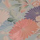 水色 花籠の名古屋帯 質感・風合