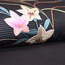 秋野に虫かごの名古屋帯 質感・風合
