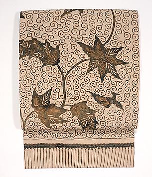 インドネシアロチャン布の名古屋帯