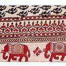 象と小花のインド更紗名古屋帯 前中心