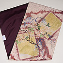 垂れ柳に桜の刺繍名古屋帯 帯裏