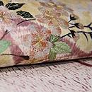 垂れ柳に桜の刺繍名古屋帯 質感・風合