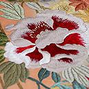 南天、牡丹、椿の刺繍開き名古屋帯 質感・風合
