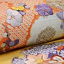 南天と水仙、梅の刺繍開き名古屋帯 質感・風合