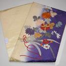 水仙と菊の刺繍名古屋帯 帯裏