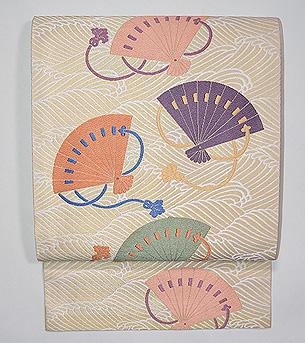 波紋に檜扇袋帯