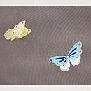 菜の花に蝶  刺繍名古屋帯 前中心