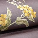 菜の花に蝶  刺繍名古屋帯 質感・風合