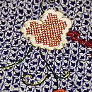 絞りに刺繍の半巾帯 質感・風合